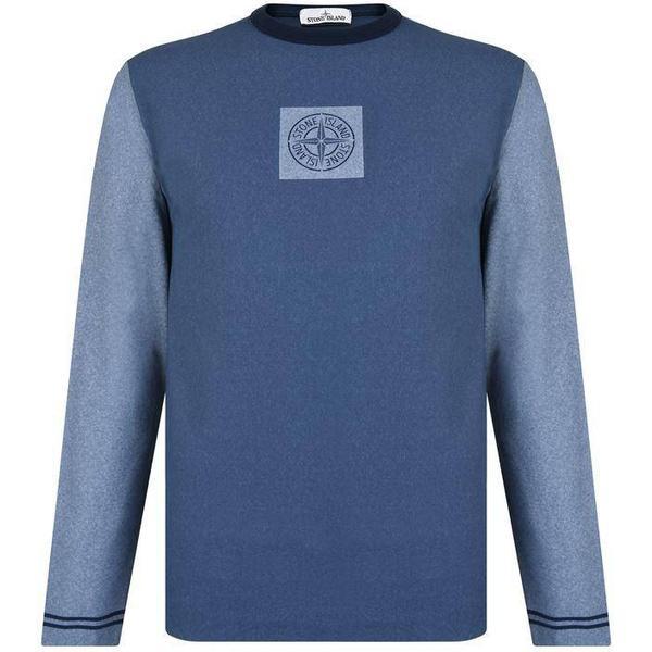 Stone Island Chalk Logo Sweatshirt - Blue V0028
