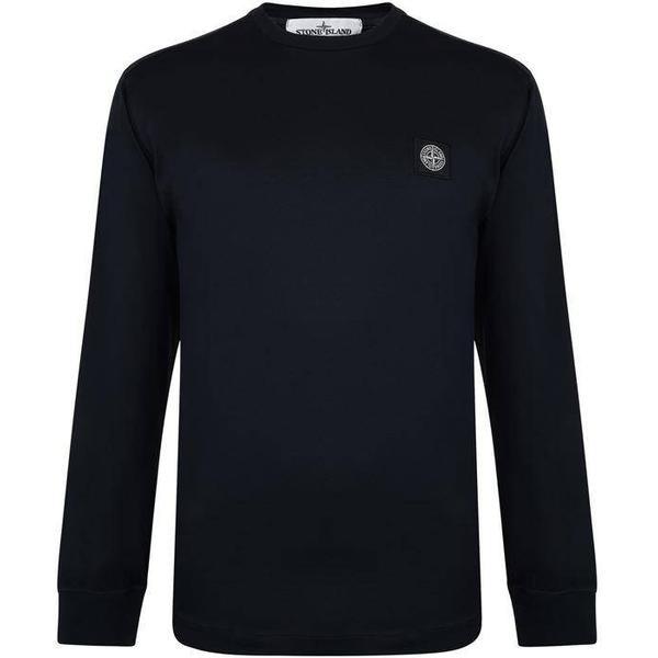 Stone Island Patch Logo Long Sleeve T-shirt - Navy V0020