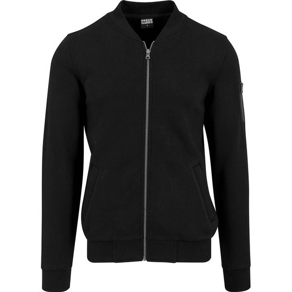 Urban Classics Sweat Bomber Jacket - Black