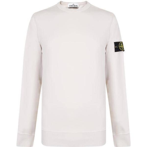 Stone Island Badge Sleeve Sweatshirt - Stucco V0097