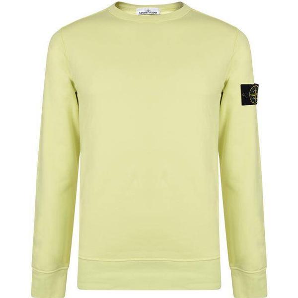 Stone Island Badge Sleeve Sweatshirt - Limone V0031