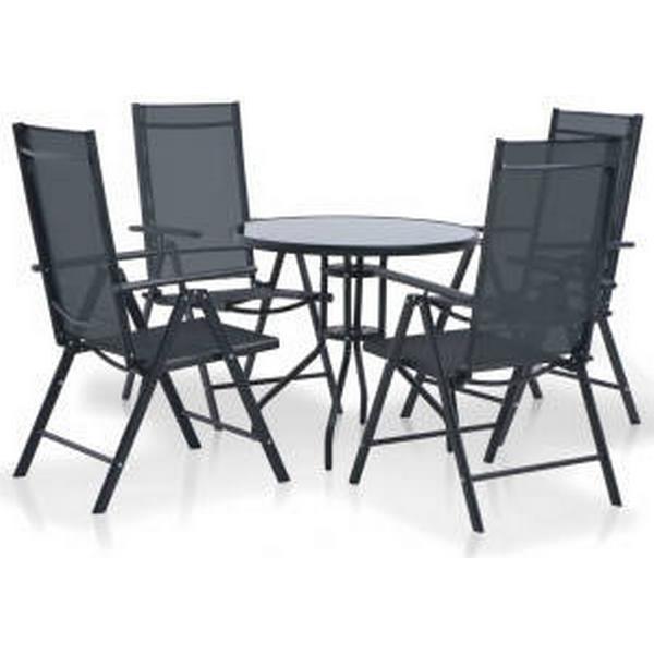 vidaXL 44447 Havemøbelsæt, 1 borde inkl. 4 stole