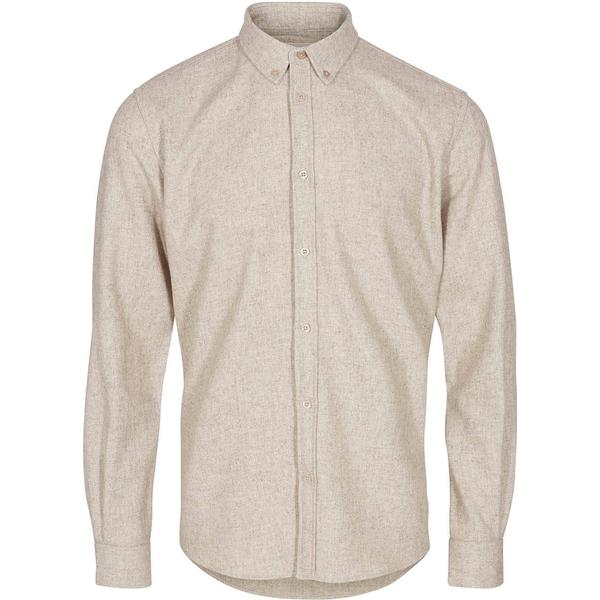 Minimum Walther Long Sleeved Shirt - Stone Flour