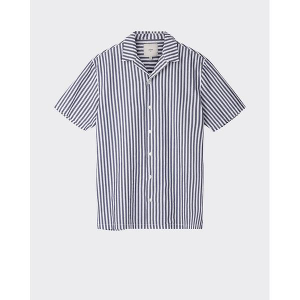Minimum Joachim Short Sleeved Shirt - Navy Blazer