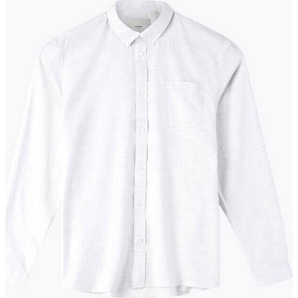 Minimum Jay 2.0 Long Sleeved Shirt - White/Metal Grey