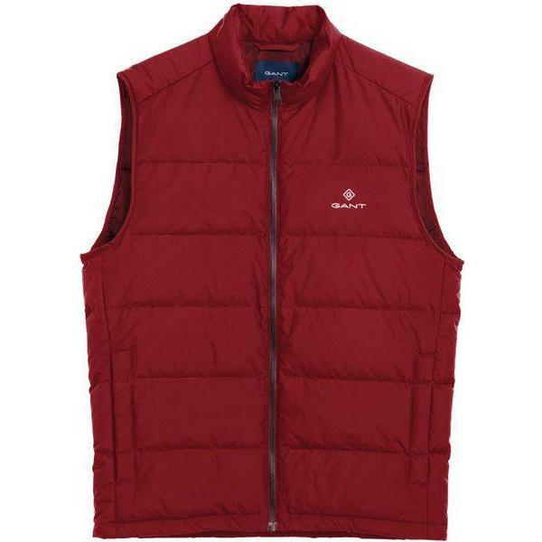 Gant Panel Down Vest - Mahogny Red