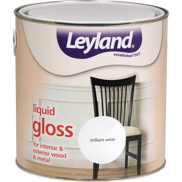 Leyland Trade Liquid Gloss Wood Paint, Metal Paint White 2.5L