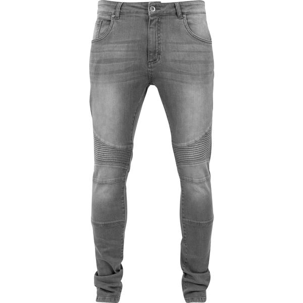 Urban Classics Slim Fit Biker Jeans - Grey