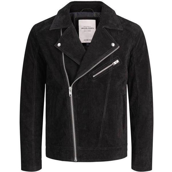 Jack & Jones Real Suede Biker Jacket - Black