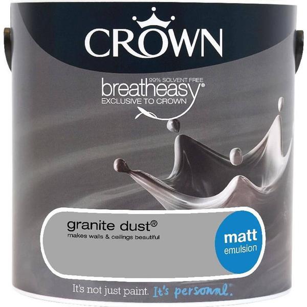 Crown Matt Emulsion Wall Paint, Ceiling Paint Grey 2.5L