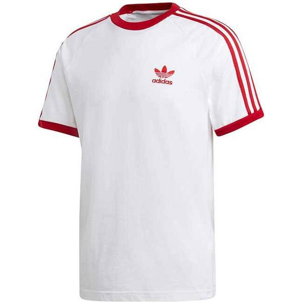 Adidas 3-Stripes T-shirt - White/Power Red