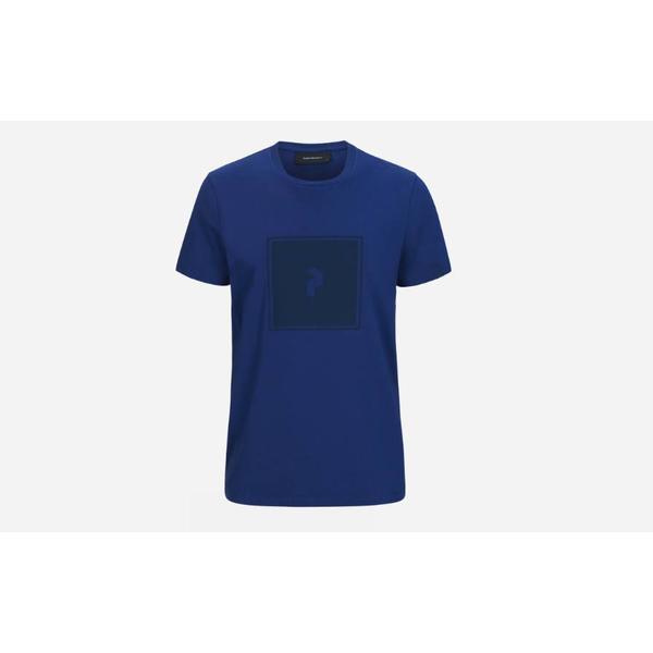Peak Performance Print T-shirt - Blueprint