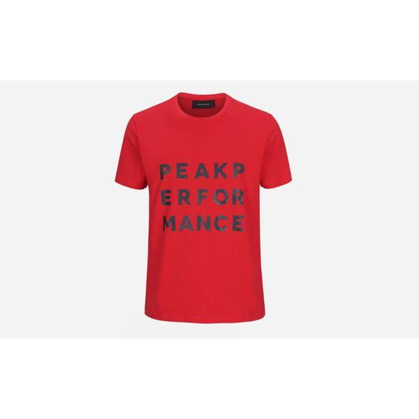 Peak Performance Ground 2 T-shirt - Chinese Red
