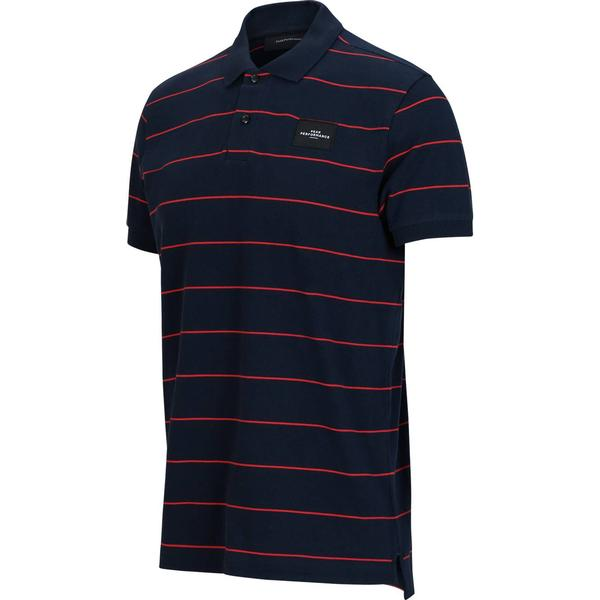 Peak Performance Striped Polo Shirt - Salute Blue