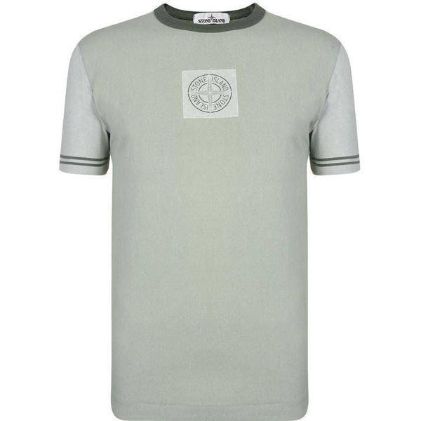 Stone Island Chalk Short Sleeve T-shirt - Salvia V0055