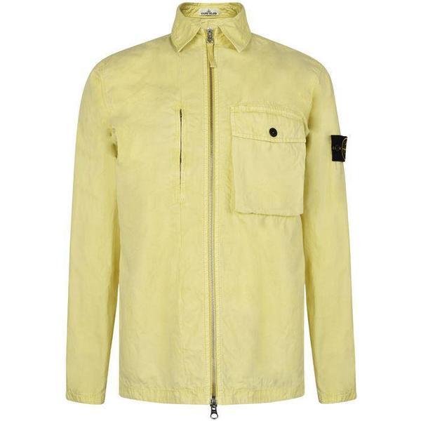 Stone Island Old Dye Treatment Overshirt - Lemon
