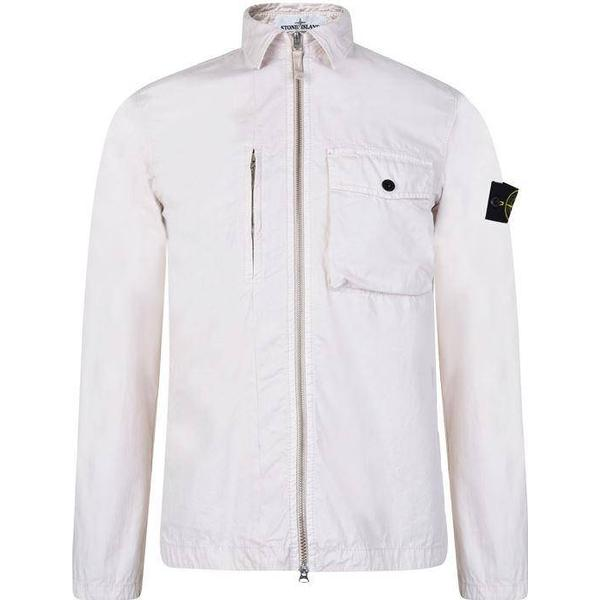 Stone Island Old Dye Treatment Overshirt - Plaster