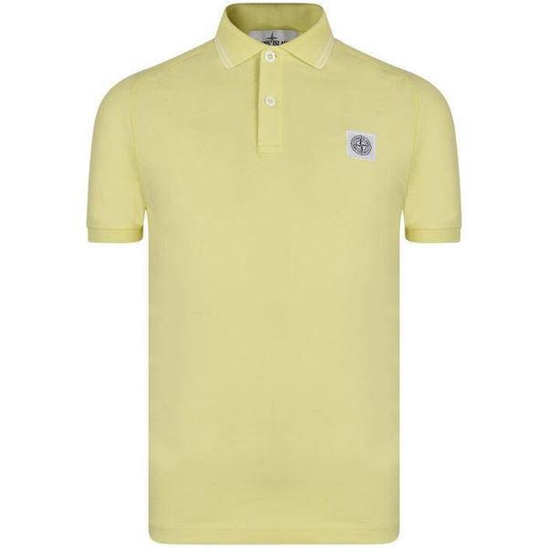 Stone Island Tipped Badge Logo Polo Shirt - Limone V0031