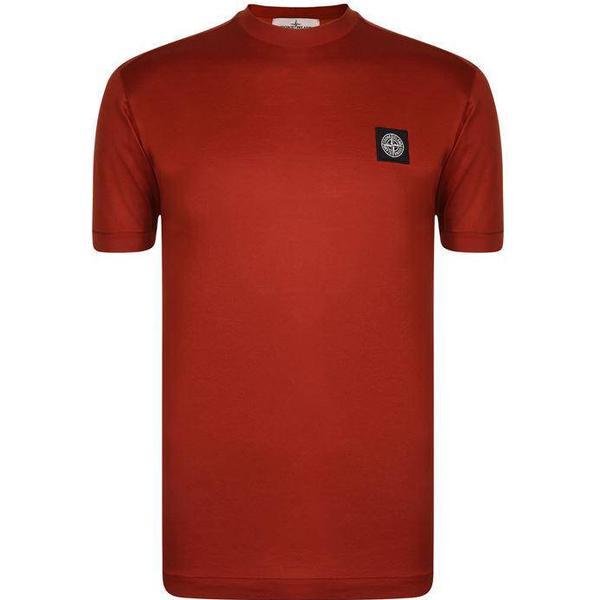 Stone Island Badge Logo T-shirt - Mattone V0015