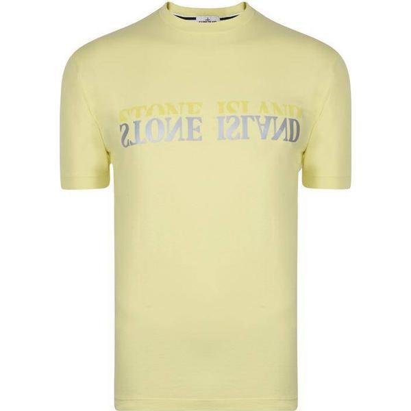 Stone Island Reflective Logo T-shirt - Limone V0031