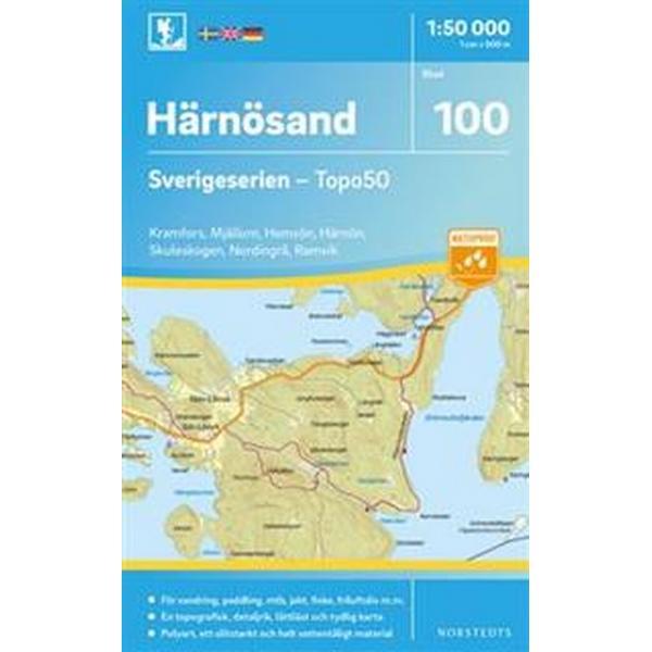 100 Härnösand Sverigeserien Topo50: Skala 1:50 000