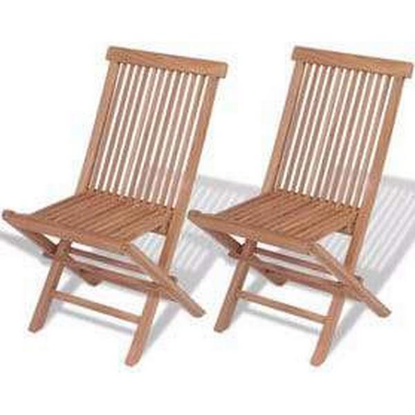 vidaXL 41993 2-pack Armløs stol