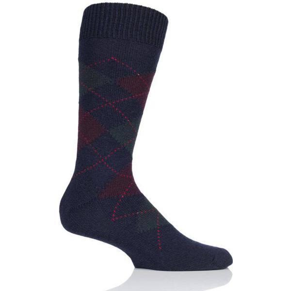 Pantherella Racton Argyle Socks - Navy