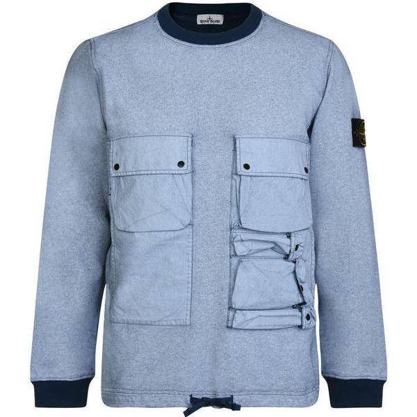 Stone Island Chalk Pocket Sweatshirt - Blue V0028