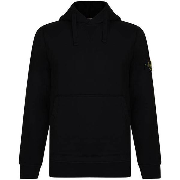 Stone Island Badge Hooded Sweatshirt - Black V0029