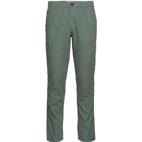 Selected Linen Trousers - Green/Agave Green