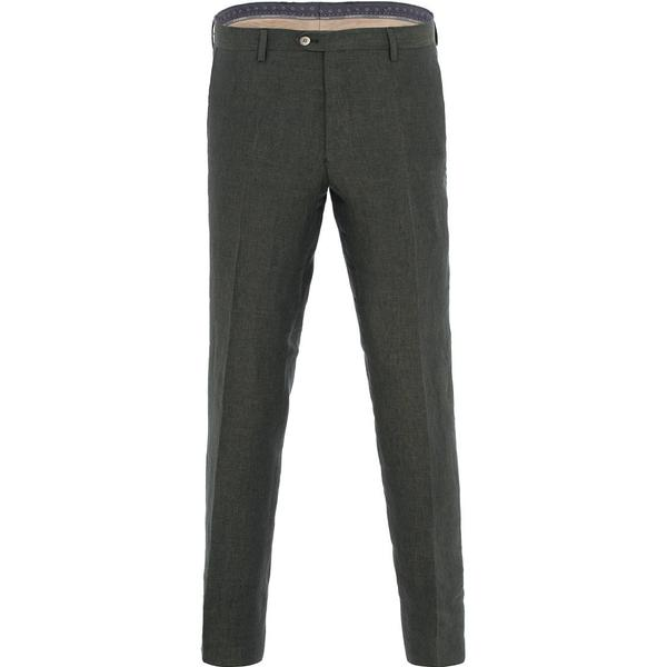 Oscar Jacobson Diego Linen Trousers - Green