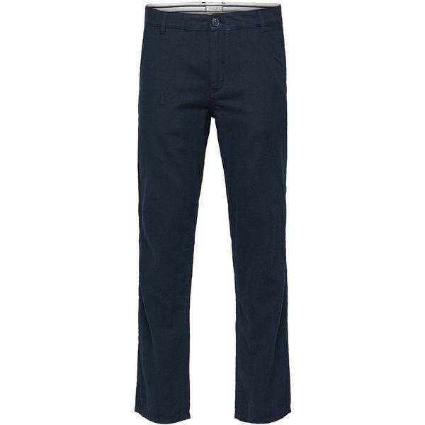 Selected Linen Trousers - Blue/Dark Sapphire