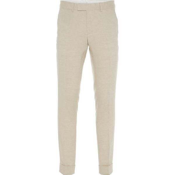 J. Lindeberg Grant Tech Linen Trousers - White/White Pepper