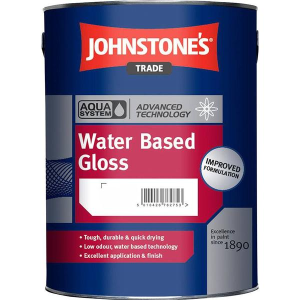 Johnstone's Trade Aqua Water Based Gloss Wood Paint, Metal Paint Yellow 5L