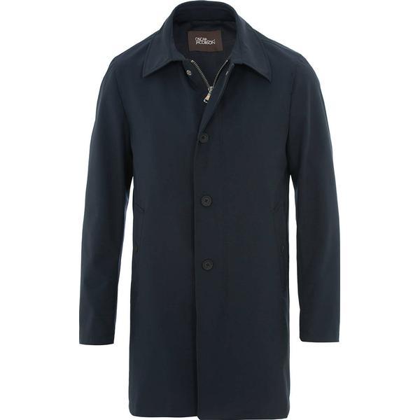 Oscar Jacobson Johnsson Coat - Dark Blue