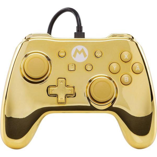 PowerA Wired Controller - Gold Chrome Mario (Nintendo Switch)