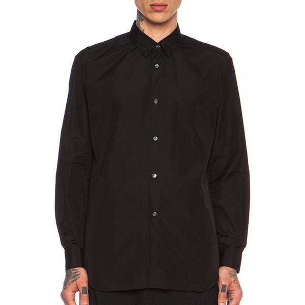 Comme des Garçons Forever Poplin Button Down Shirt - Black