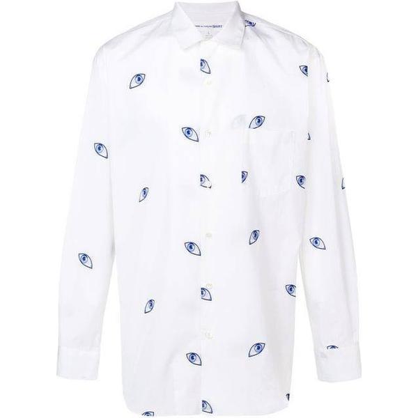 Comme des Garçons Embroidered Eye Shirt - White