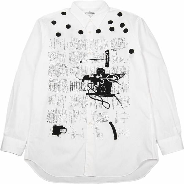 Comme des Garçons x Jean Michel Basquiat Longsleeve Shirt - White