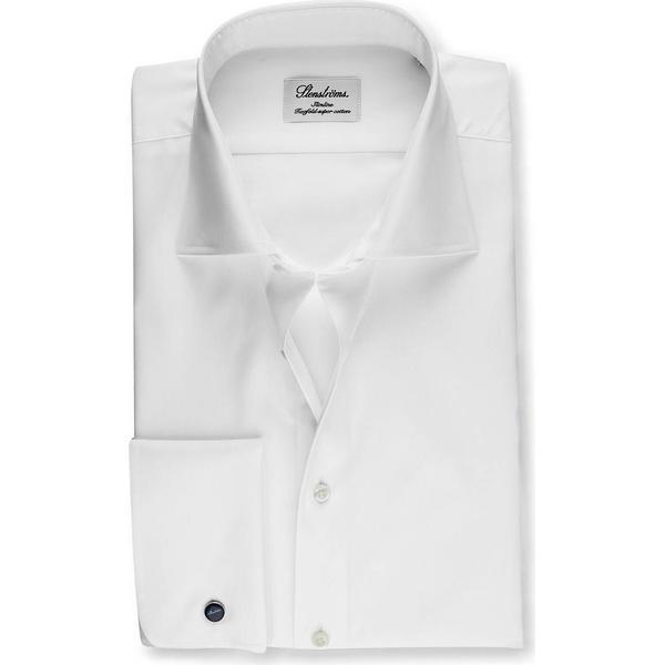 Stenströms Slimline Shirt with French Cuffs - White
