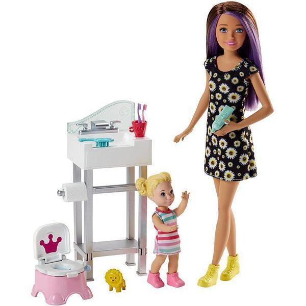 Mattel Barbie Skipper Babysitters Inc Doll & Playset FJB01