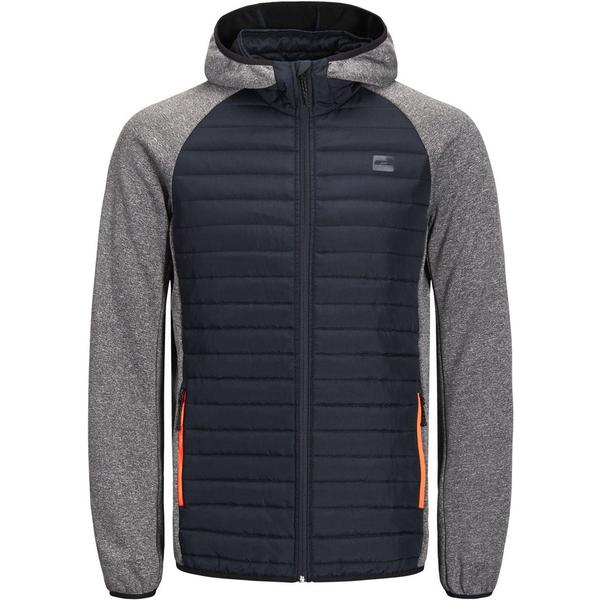 Jack & Jones Quilted Jacket - Grey/Grey Melange
