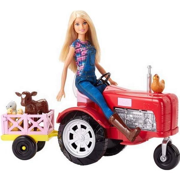 Mattel Barbie Doll & Tractor FRM18