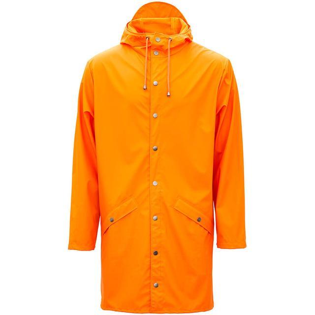 Rains Long Jacket Unisex - Fire Orange